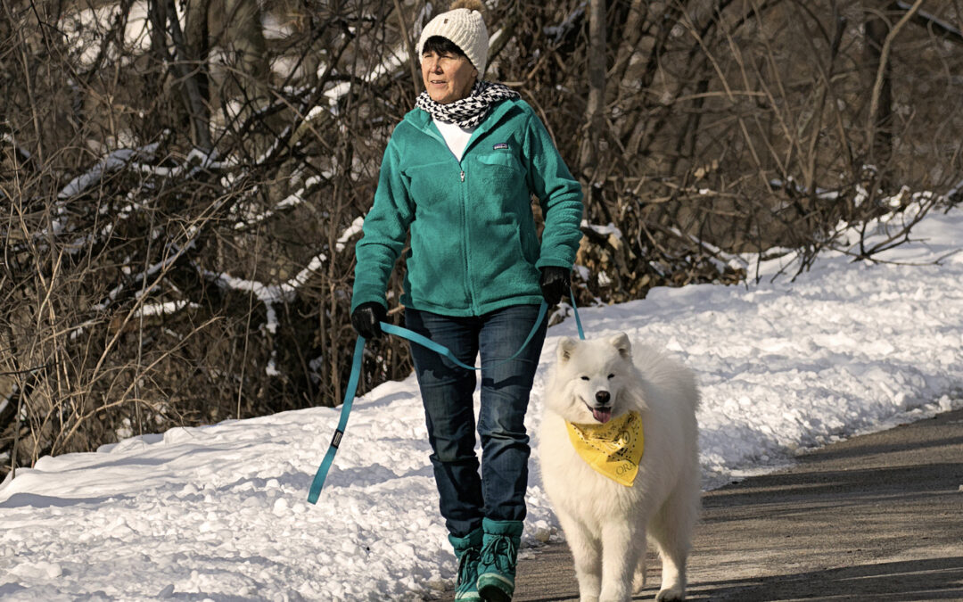 Meet our 2021 QC Outdoor bloggers, Teri and her sweet Samoyed, Kaia.
