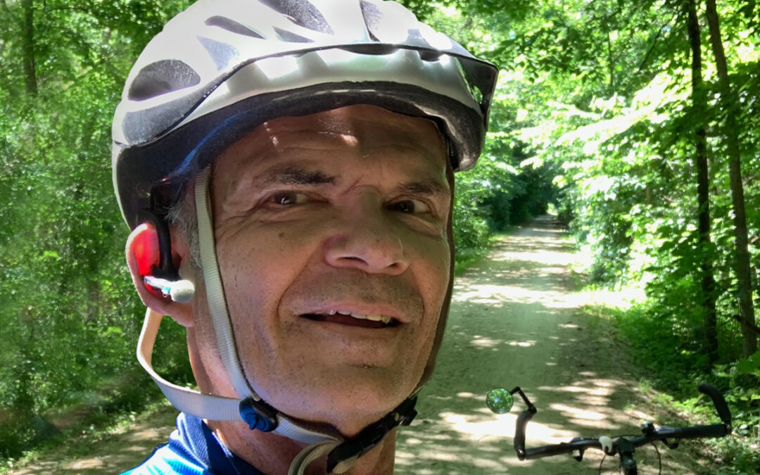It's freedom, baby! Yeah! Cycling and hiking the wooded Heritage Trail