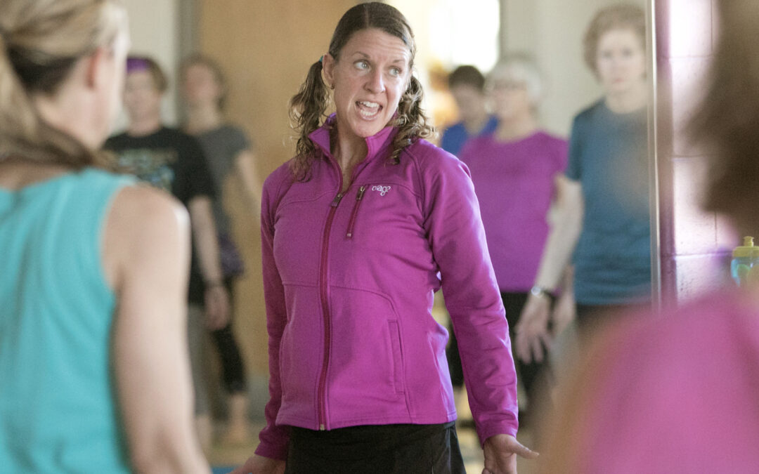 Bettendorf fitness instructor's second career inspires students to move!
