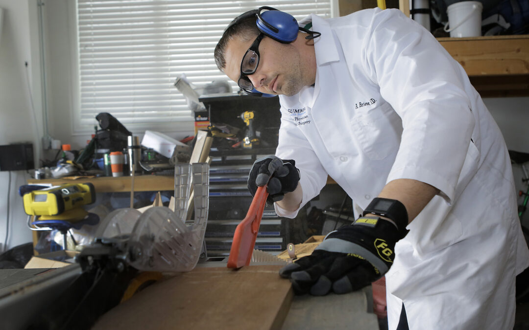 Pasionate about his handiwork: Carpentry and orthopedics go together for this QC physician